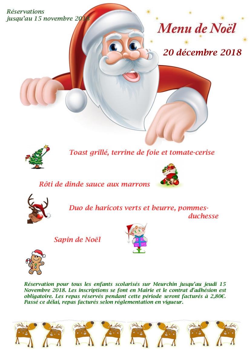 Dessin De Menu Pour Noel.Menu De Noel